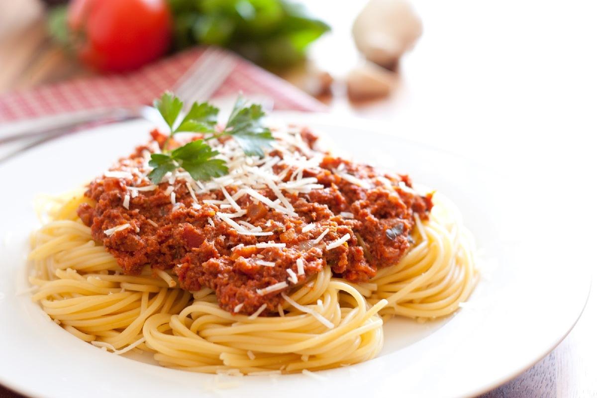 Heerlijke huisbereide spaghetti bolognaise