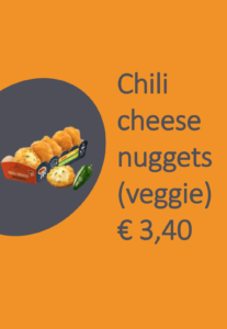 Chili cheese nuggets (veggie)